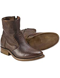 Bison Leather Zip Boot
