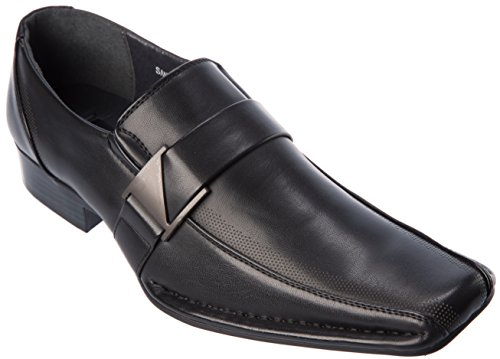 Alberto Fellini Mens Slip-On Loafer Fashion Black Dress Shoes Size 9 by Alberto Fellini