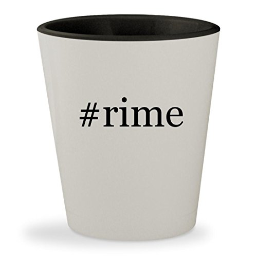 #rime - Hashtag White Outer & Black Inner Ceramic 1.5oz Shot Glass