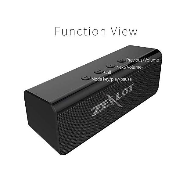 Enceinte Bluetooth Portable, Mini Haut-Parleur Bluetooth Enceinte Portable sans Fil, avec Universel Support, Compatible Android iOS et Autres Appareil (C-Noir) 3