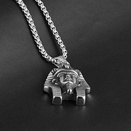 Mens necklace 3.0Mm Stainless Steel Chain Vintage Egyptian Pharaoh Chain Pendant Necklace For Men Stainless Steel Jewelry Male Necklaces