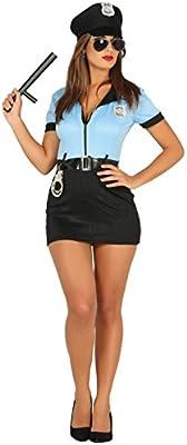 Guirca- Disfraz adulta policía, Talla 36-38 (88294.0): Amazon.es ...
