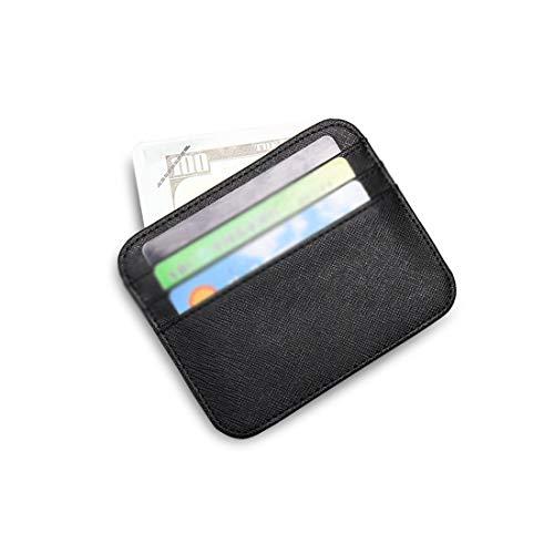Porte cartes color monnaie Black Cuir Black En Mince Avec Porte Unisexe Et Lieyliso 4qFTYfn