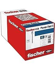 fischer 670396 50 x spaanplaatschroef Power-Fast II 5,0x30, verzonken kop met kruiskop volledige schroefdraad galvanisch verzinkt, blauw gepassiveerd (artikelnr. 670393)
