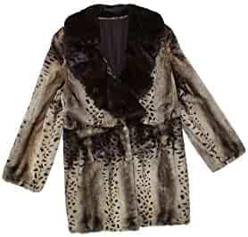 b5a3039e22613 716171 New Beige Animal Print Semi Sheared Mink Fur Stroller Coat 12