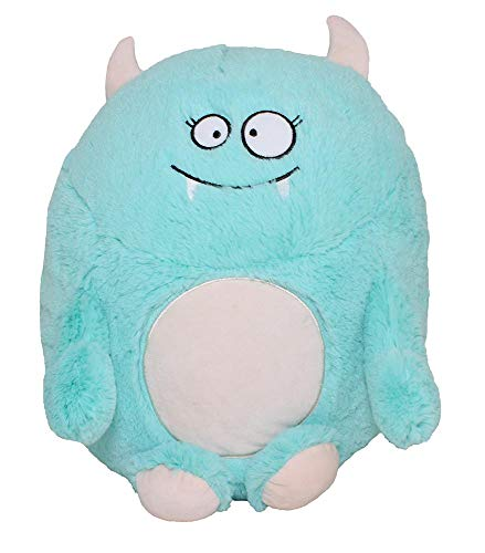 SILVER ONE Kids & Toddlers Soft Sherpa Plush Stuffed Cozy Fun Over-Sized Cute Monster Character Cuddle Fluffy Pillow -