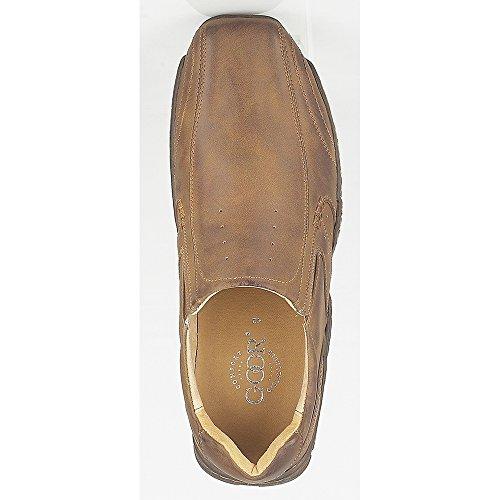 Goor - Zapato casual Tramline Modelo Twin Gusset Hombre caballero Marrón tostado