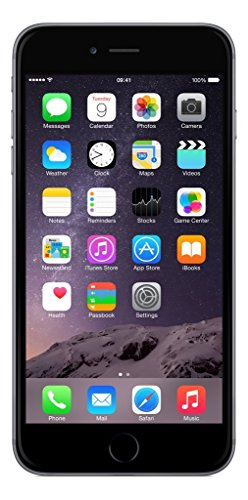 Apple iPhone 6 Plus 128GB Factory Unlocked GSM 4G LTE Smartphone No Touch ID No Fingerprint Sensor (Refurbished) (Space Gray 16G)