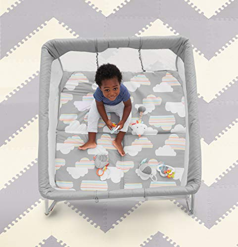 4112EEw3EoL - Skip Hop Portable Playard: Play To Night Expanding Travel Crib To Playard