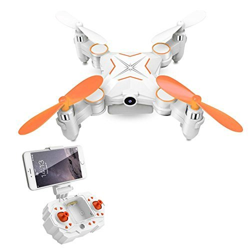 Rabing Mini Foldable RC Drone FPV VR Wifi RC Quadcopter Remote Control Drone with HD 720P Camera RC Helicopter
