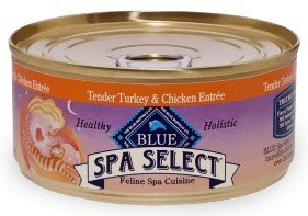 Blue Buffalo Spa Select Canned Cat Food, Turkey and Chicken Entrée (Pack of 24 5.5-Ounce Cans), My Pet Supplies