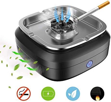 CWC 多機能デスクトップ無煙灰皿、空気清浄機、排除することができます受動喫煙、USB充電式