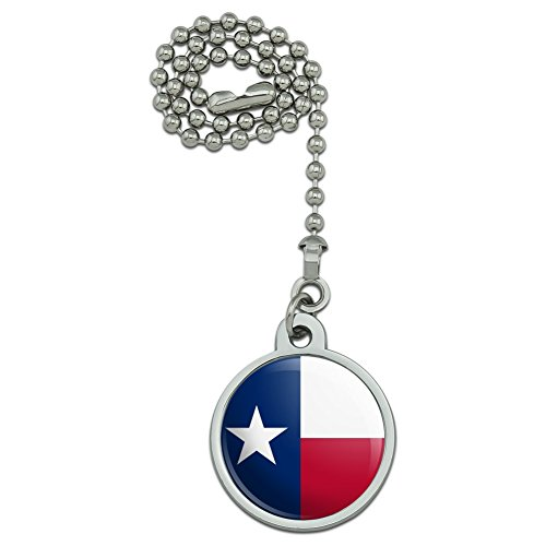 Texas State Flag Ceiling Fan and Light Pull Chain (Ceiling Texas Fan Star)