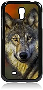 Wolf - Case for the Samsung Galaxy S4 i9500- Hard Black Plastic Snap On Case