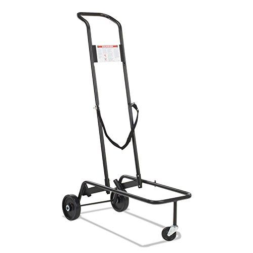 Stacking Chair Truck Cart, 10 Virco-Chair Capacity, 39-7/8 x 21 x 60-3/4, Black [ESS] ()