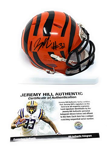Jeremy Hill Cincinnati Bengals Signed Autograph Mini Helmet JHILL Personal Player Certified
