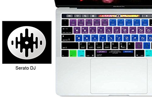 Serato DJ Shortcut Keyboard Cover Mac Silicone Portector Skin for MacBook Pro 13