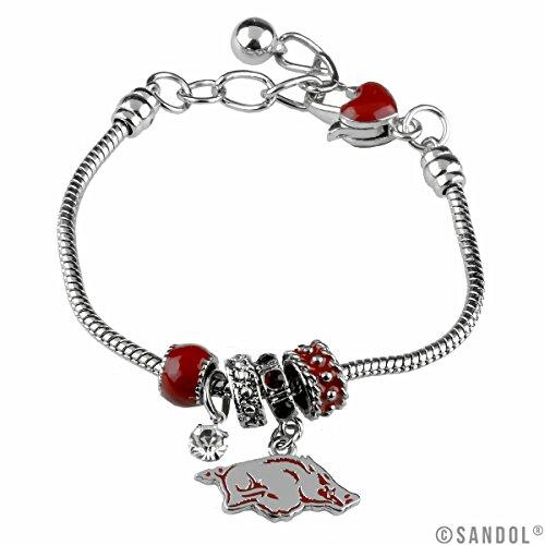 Sandol Arkansas Razorbacks MVP Charm Bracelet ()