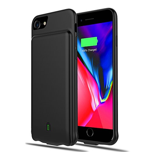 Updated 2019 Battery Case for iPhone 6/6s/7/8, 4500mAh Extended Rechargeable Charging Case Portable Power Bank External Battery Pack Protective Charger Case for iPhone 6, 6s, 7, 8 (4.7in) (Best Iphone Battery Pack 2019)