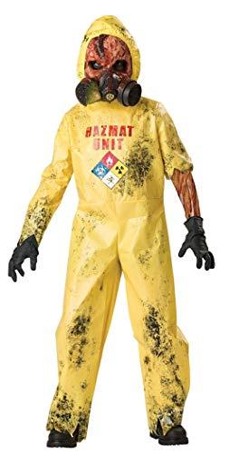 InCharacter Costumes, LLC Boys 8-20 Hazmat Hazard Jumpsuit, Yellow, Medium ()