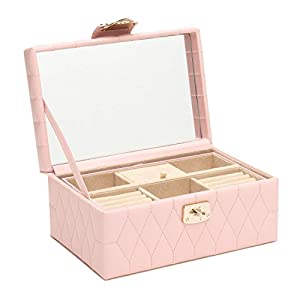 WOLF 329815 Caroline Small Jewelry Case, Rose Quartz
