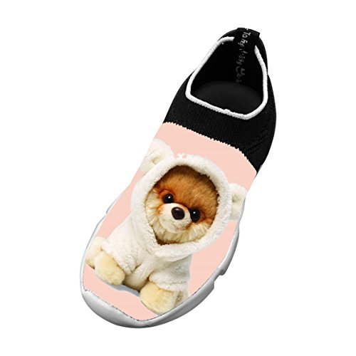 Boo Dog Customized Printing Children's Slip-on Flyknit Outdoor Sport Shoes