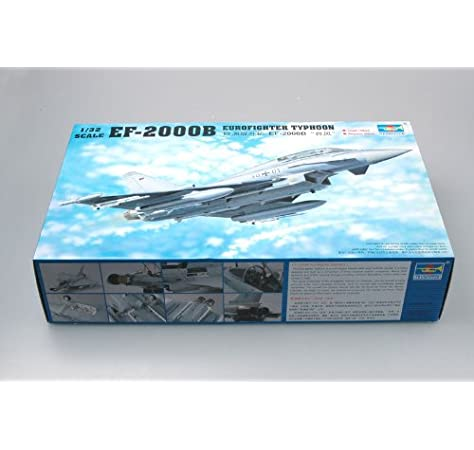 Trumpeter 2279 EF-2000B Eurofighter Typhoon - Caza [importado de Alemania]: Amazon.es: Juguetes y juegos