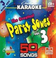 Chartbuster Karaoke Greatest Party Songs Volume 3 CD+G