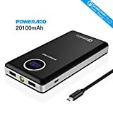 Poweradd Portable Charger Power [Qualcomm Quick Charge 3.0] Poweradd 20100mAh Portable Charger Power Bank (3.8A Output LG 18650 Battery) with Digital LED Display for Smartphones and Tablets, TI Protection System