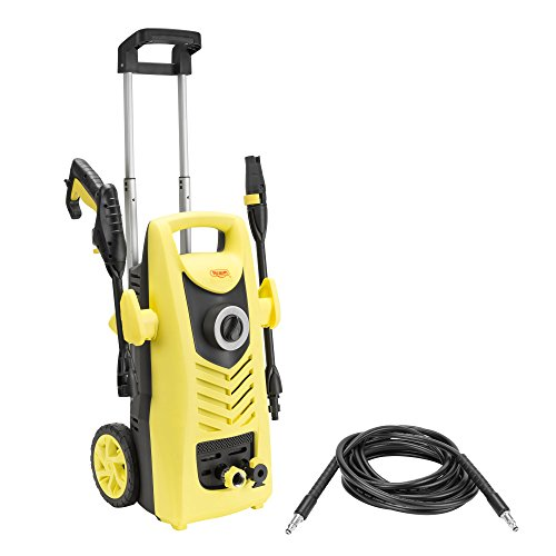 Realm BY02-VBW-WT 2000 PSI 1.60 GPM 13 Amp Electric Pressure Washer with Spray Gun, Wand, Adjustable Nozzle, Foam Cannon
