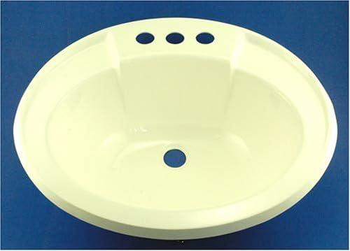 LaSalle Bristol 16370PW 17 x 20 White Oval Plastic Sink