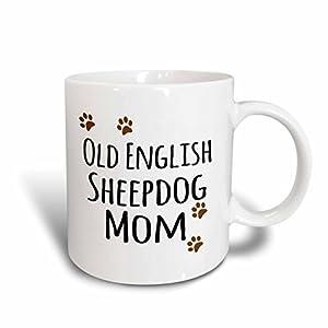 3dRose 154165_1 Old English Sheepdog Mom Mug, 11 oz, Ceramic 34