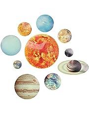 Lichtgevende zonnestelsel Muurstickers, Verwijderbare Glow in the Dark Planet Stickers voor Kinderkamer Slaapkamer Decor