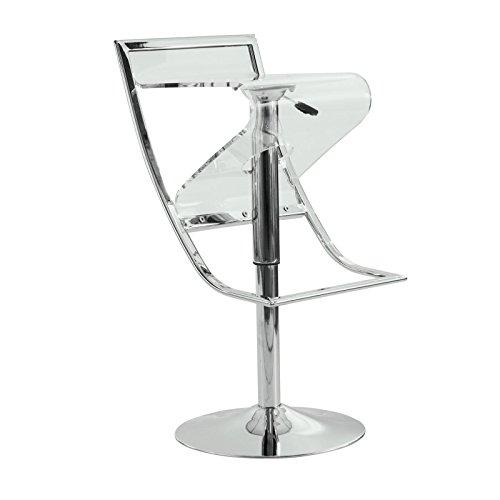 Spectator Height Stool (LeisureMod Napoli Acrylic Bar/Counter Stool, Transparent)