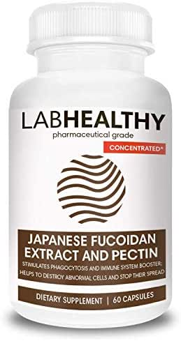 Concentrated FUCOIDAN Made in Japan Extract and Pectin Formula - Immunity Complex, Fucoidan Force, Cell Support Supplement, Brown Seaweed Capsules, Seaweed Supplement,Immune Builder- 60 Capsules