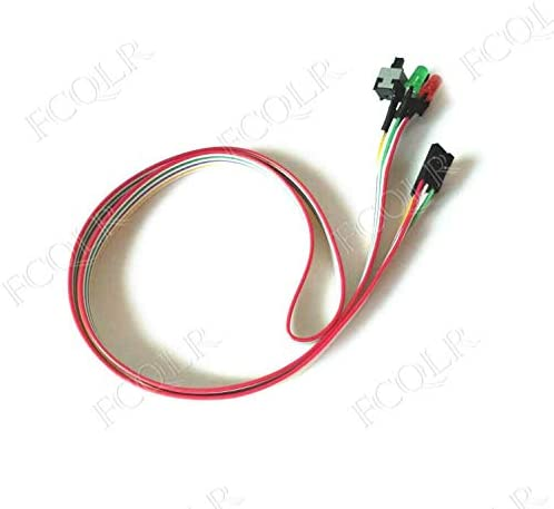 FCQLR for Computer case Switch line Restart line case Double Button Host Switch line Single Switch with Light 0.6m