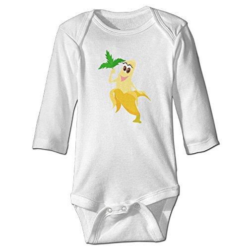 Costumes Peeled Banana Toddler (Fashion Baby Boys & Girls Cartoon Banana Long-sleeve)