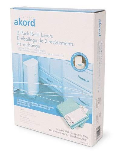 Akord 2-Pack Liner Refills for Akord 280 Slim Model (Adult Diaper Disposal System)