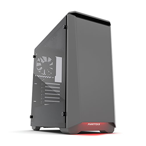 "Phanteks Eclipse P400 Steel ATX Mid Tower Case Anthracite Grey, ""Tempered Glass"" Edition"