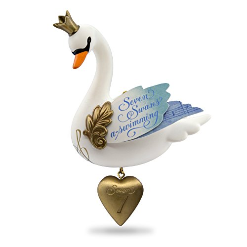 Hallmark Keepsake 2017 Seven Swans-a-Swimming Twelve Days of Christmas  Ornament 12 Days Seven Swans Ornament