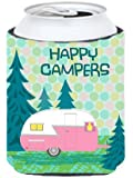 Caroline's Treasures Happy Campers Glamping Trailer Can or Bottle Hugger, Multicolor