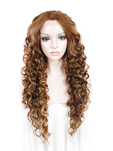 Imstyle Beyonce Hair Wig Synthetic Lace Front Wig Long Curly Blonde Mixed (Celebrity Front Lace Wigs)
