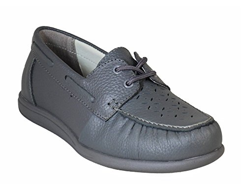 Shoes Bowls Leather Michelle Grey Lawn Ladies Henselite Rx8HwXqn
