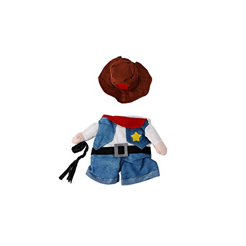 Delight eShop Funny Pet Costume Dog Cat Costume Clothes Dress Apparel Doctor Policeman Cowboy (S) (Funny Halloween Toasts)