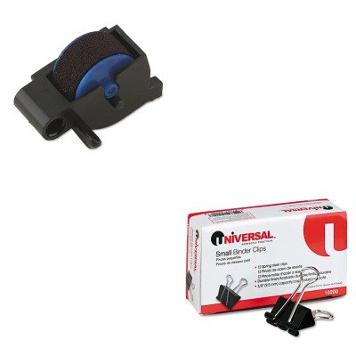 - Value Kit - Dymo Replacement Ink Roller for DATE MARK Electronic Date/Time Stamper (DYM47001) and Universal Small Binder Clips (UNV10200) ()