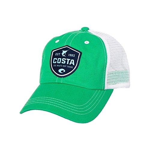 Costa Del Mar Shield Trucker Hat, Spring Green (Good Trucker Hat)