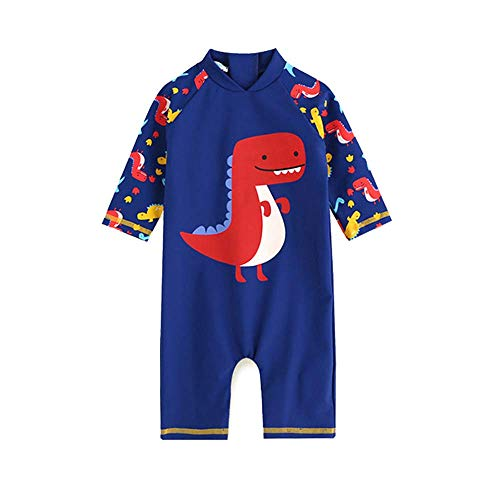 Zipper Kids Back - Megartico Boys' Swimsuit One Piece Rash Guard Kids Long Sleeve Sunsuit Swimwear Sets Toddler - Beach Sport Surf