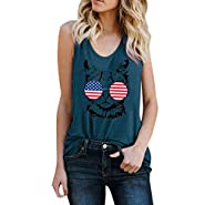 WILLTOO???? Summer Casual Vest, Cool Cat Printed Sleeveless Vest Daily Wear Tops for Women