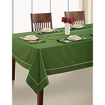 Delicieux ShalinIndia Olive Green Tablecloth 4 Seater Square Tablecloth,Premium  Cotton Fabric 60 X 60 Inch