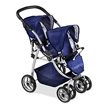Arias 73 x 47 x 80 cm Elegance Doll Twin Chair Stroller
